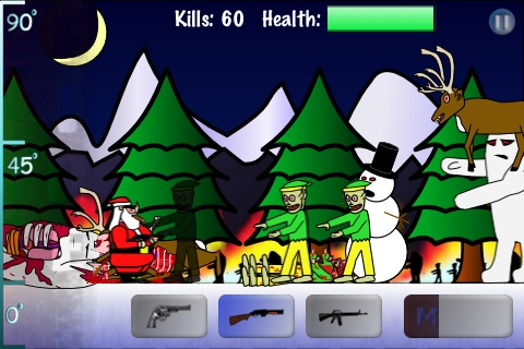 Screenshot Santa vs Zombies